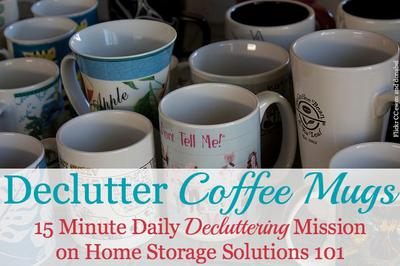 How To Declutter Coffee Mugs