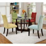 Multicolored Chairs For Dining Room