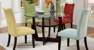 Apollo Dining Room Set w/ Multicolor Chairs by Standard Furniture