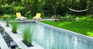 Natural Small Pool Design Ideas 23 | Pool, back yard, deck, etc in