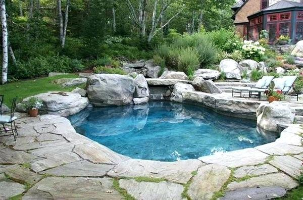 Small Natural Pool Designs Make Sure The Style Of The Pool Matches