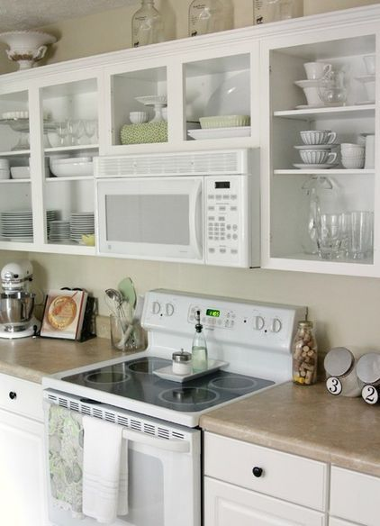 How to Convert Cabinets to Open Shelving | Ideas for the House