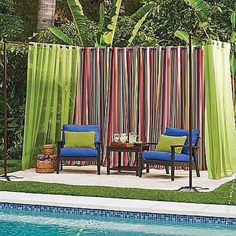 50 Pretty Outdoor Curtain Ideas Make Garden Colorful | Trending