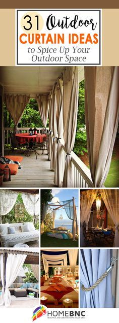 48 Best Outdoor patio curtains images | Gardens, Curtains, Ideas