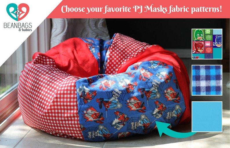 CUSTOM PJ MASKS Bean Bag Chair Cover. Reader's Nest Bean | Etsy