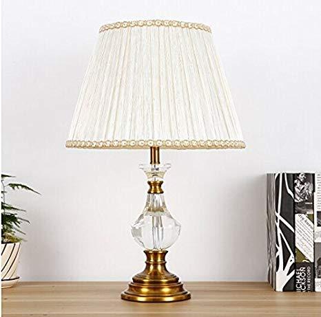European Crystal lamp Bedroom Bedside lamp Modern Simple American