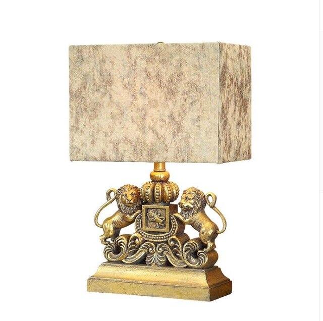 Aliexpress.com : Buy American style lion table lamp European