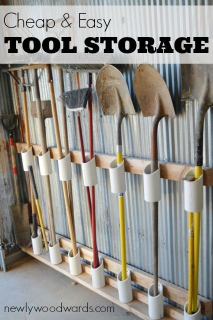 The DIY garden tool storage idea that will save your sanity | Diy