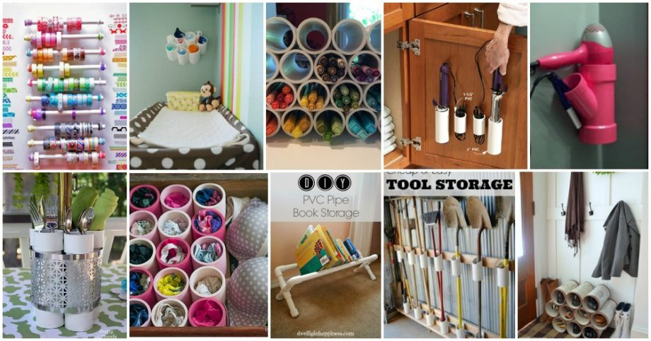 Ideas to Organize your Home with PVC Pipes