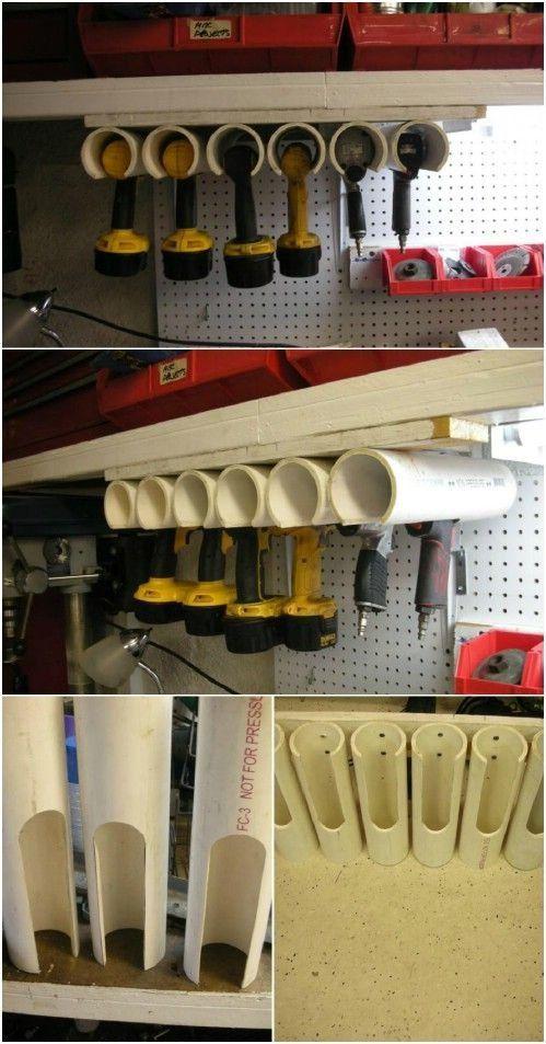 Pvc Pipe Organizing Storage Ideas
