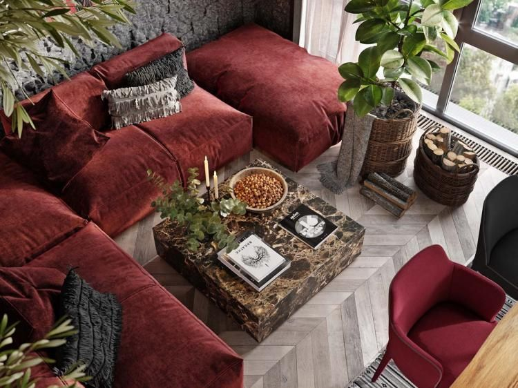 20+ Luxury Red Apartment with Rustic Accents Ideas - Page 2 of 2