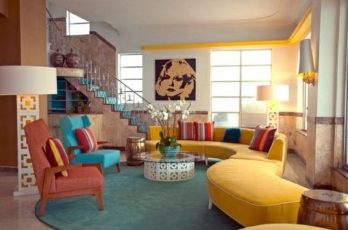 retro living room furniture u2013 Vintage Decor