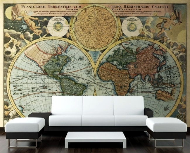 Go on a world tour with the retro wallpaper design of PIXERS
