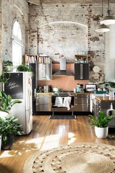 49 Awesome Rustic Bohemian Kitchen Decorations Ideas | Talia