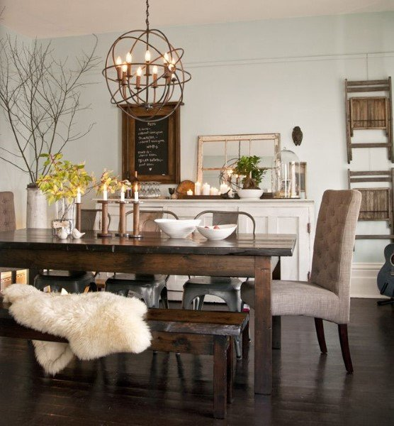 Top 40 Best Rustic Dining Room Ideas - Vintage Home Interior Designs