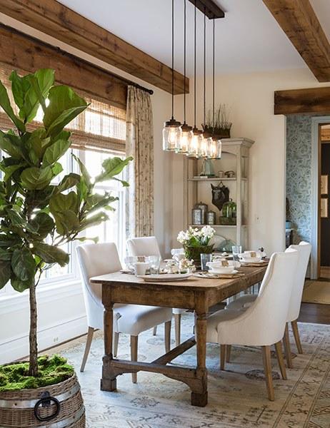 Rustic Dining Room Designs 11