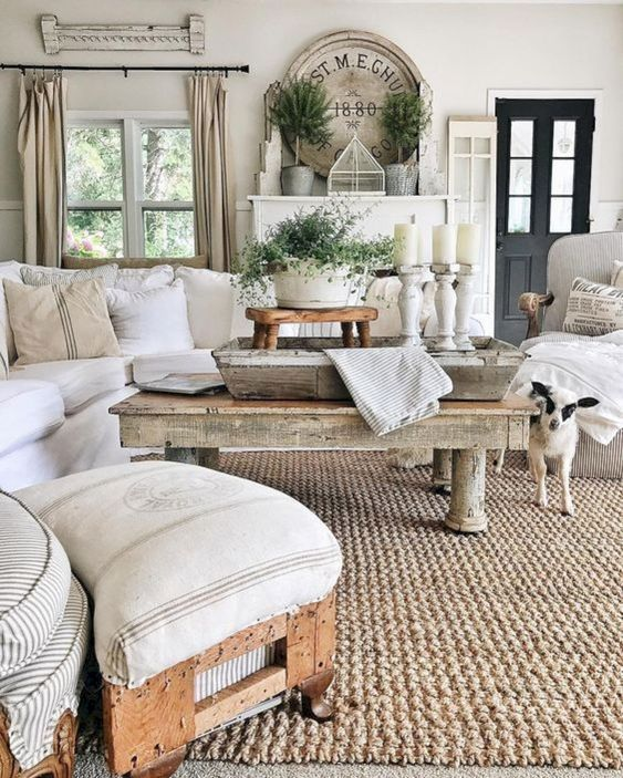 Rustic Farmhouse Living Room Decor Ideas – savillefurniture