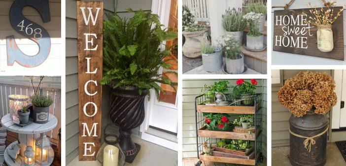 47 Best Rustic Farmhouse Porch Decor Ideas and Designs for 2019
