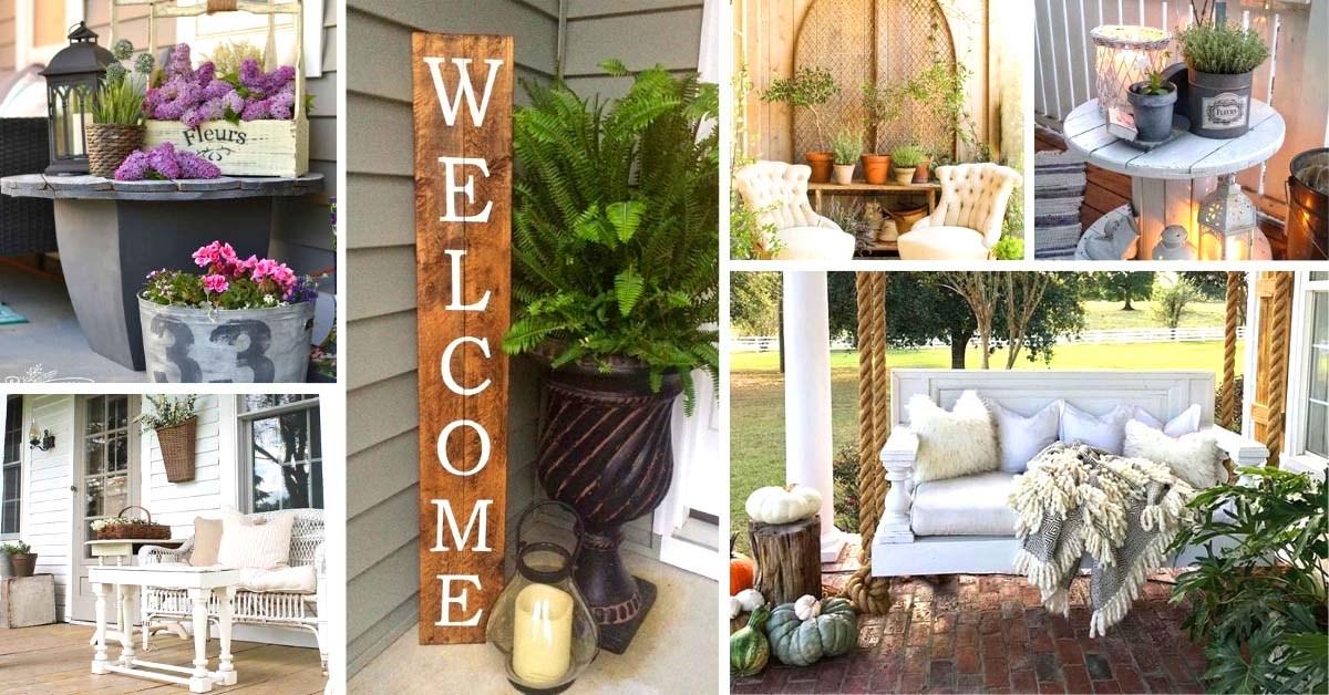 Unbelievable Rustic Farmhouse Porch Decor Concepts - Home to Z