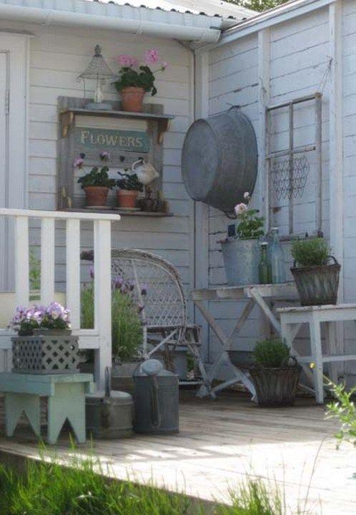 45+ Awesome Rustic Farmhouse Porch Decor Ideas | Outdoors