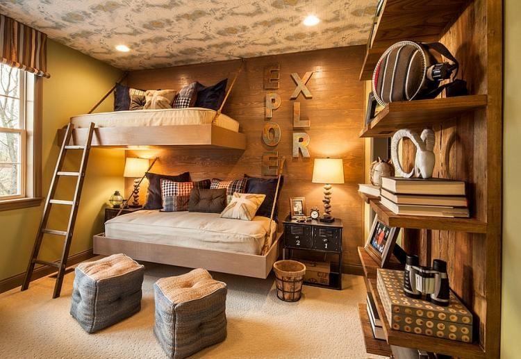 15 Stunning Rustic Kids Bedroom Designs   House decoration