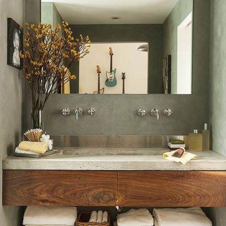 Rustic Small Bathroom Wood Decor Design Ideas 27 | Rustic Home Decor