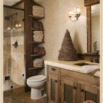 Rustic Small Bathroom Wood Decor Design