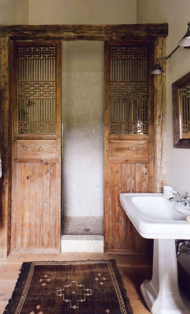 Rustic Small Bathroom Wood Decor Design 8