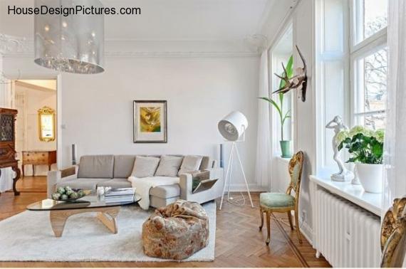 Scandinavian Style Apartment Interior Ideas - HouseDesignPictures.com