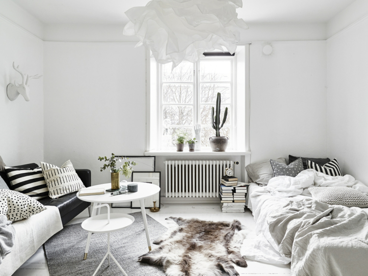 decordots: Ideas for a small Scandinavian style apartment