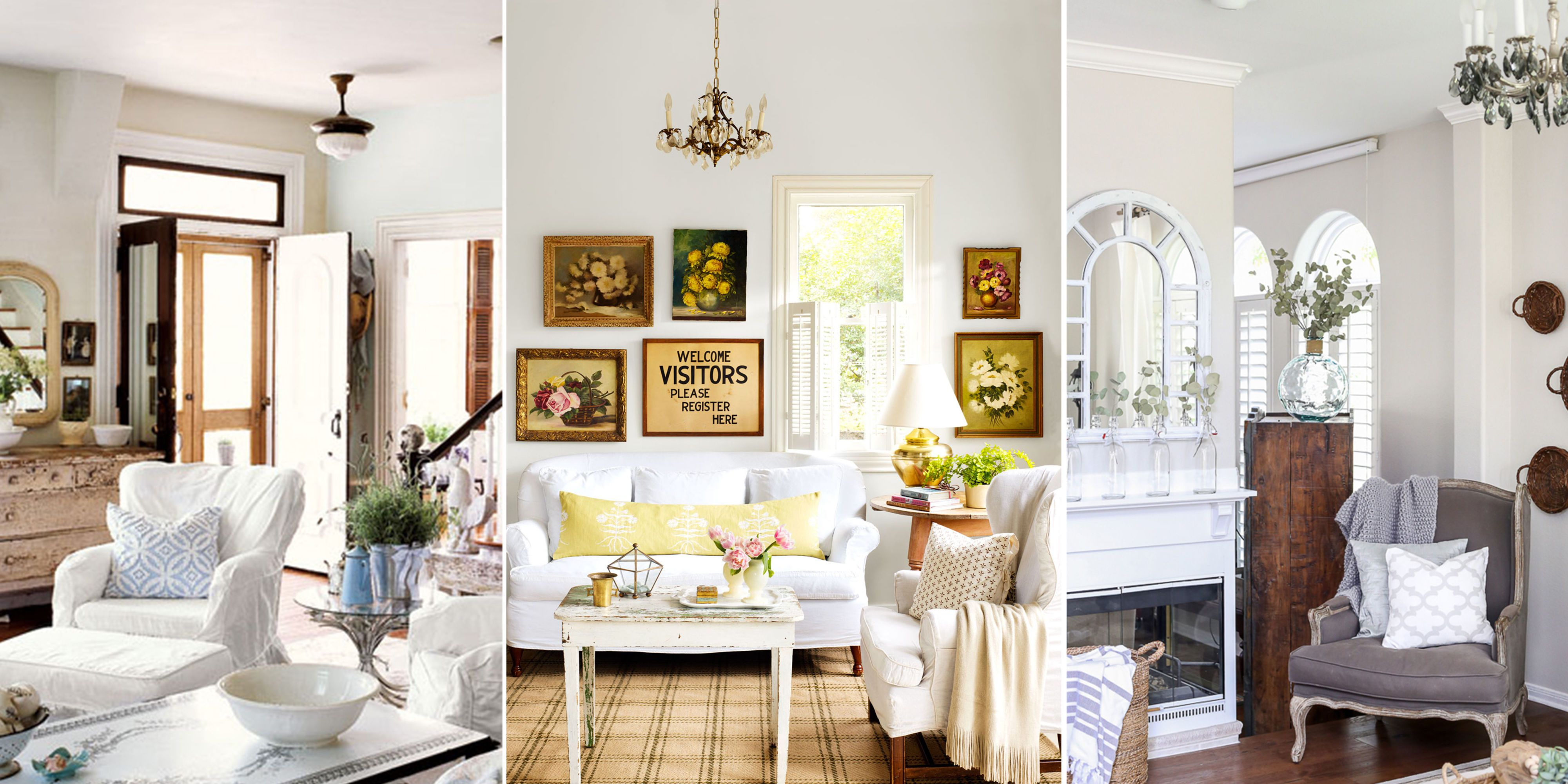 10 Shabby-Chic Living Room Ideas - Shabby Chic Decorating