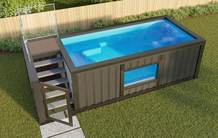 Shipping Container Swiming Pool Design Ideas – savillefurniture