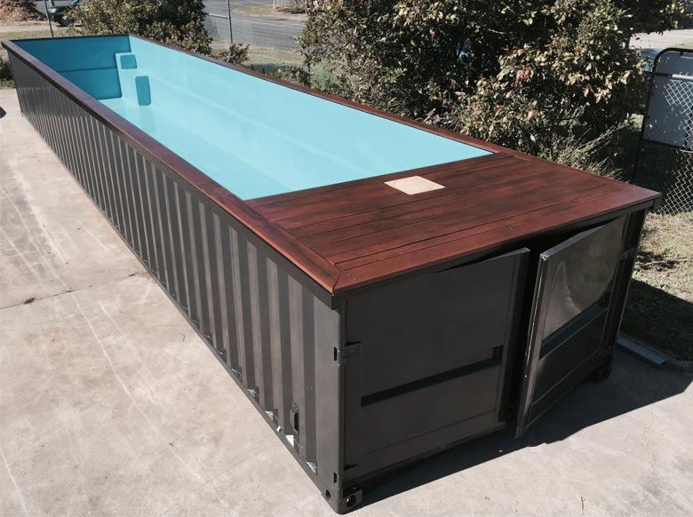 25+ Fantastic Shipping Container Swimming Pool Designs | Outdoor