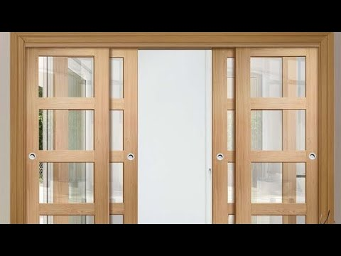 Modern wooden interior sliding door designs ideas - YouTube