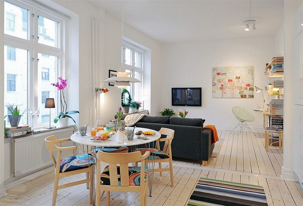 Well Planned Small Apartment with an Inviting Interior Design