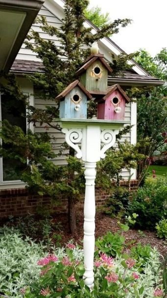 Inspiring Stand Bird House Ideas For Your Garden 48 | Bird houses