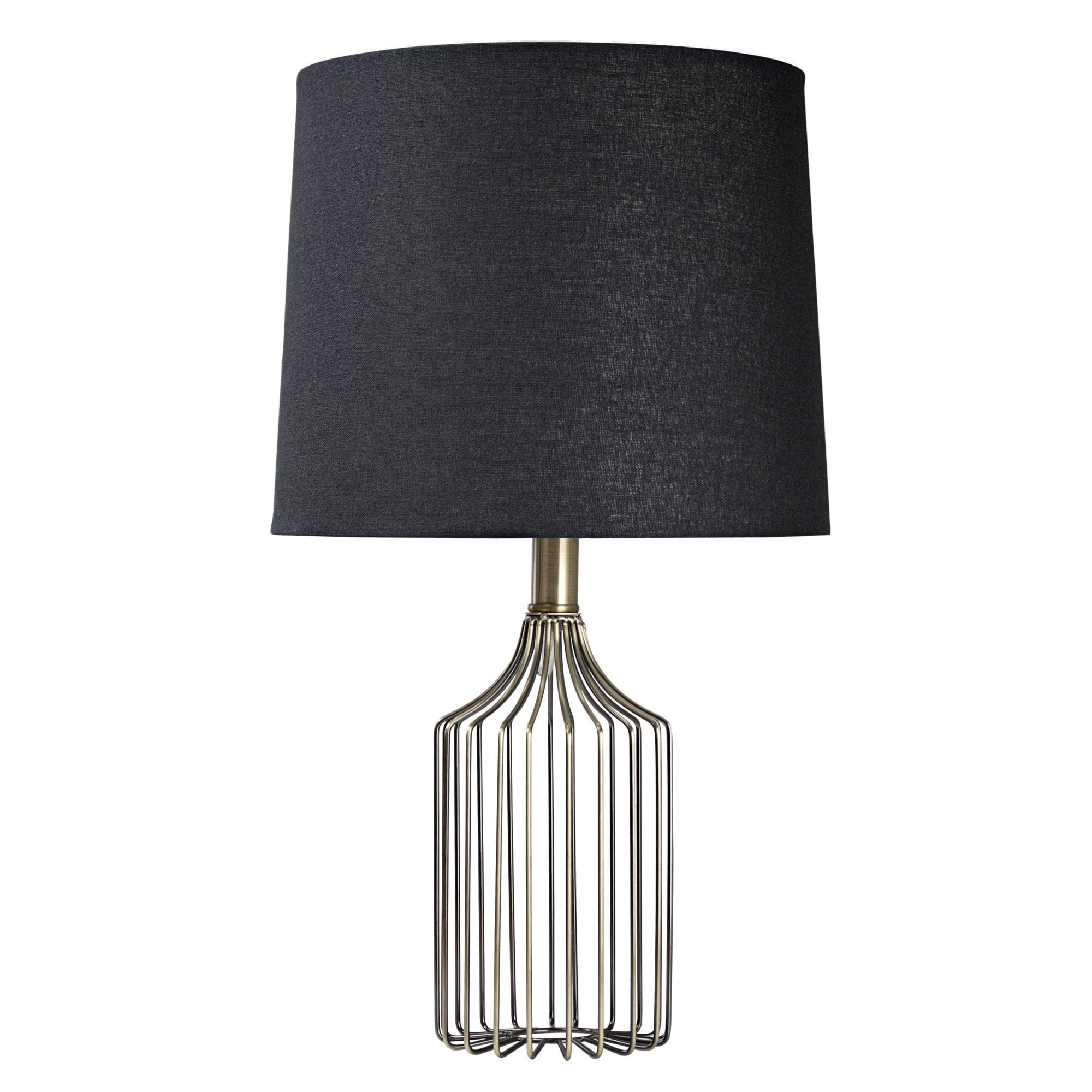 American Art Decor Wireframe Metal Table Lamp (20