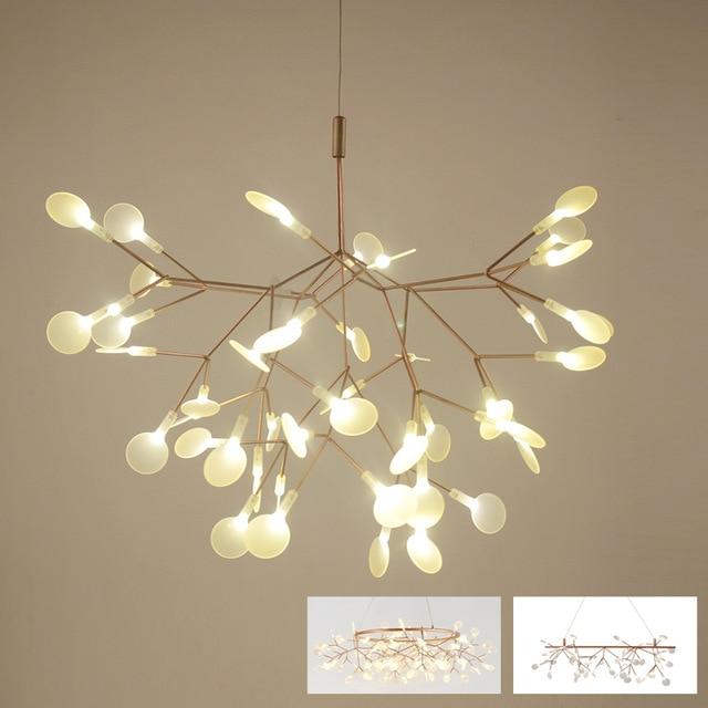 Post modern stylish tree branch leaf LED pendant light lamp