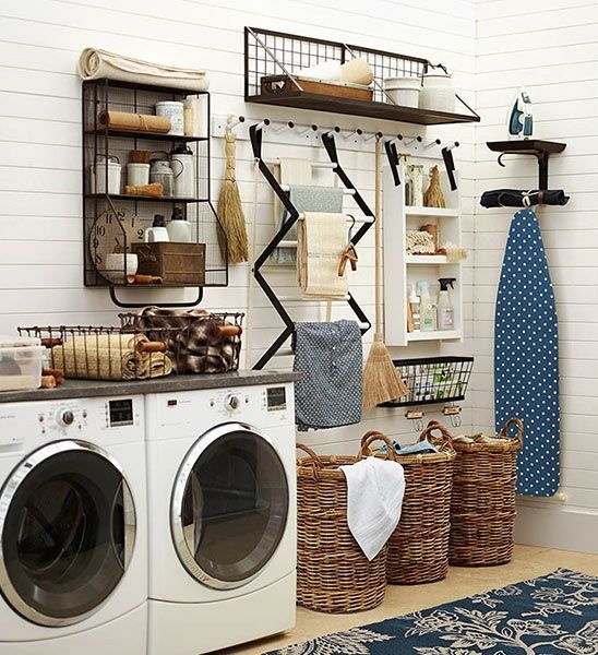 Ten Stylish Laundry Rooms You Can Copy | #homedecor | Laundry Room