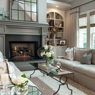 Taupe & Grey Living Room Ideas & Photos | Houzz