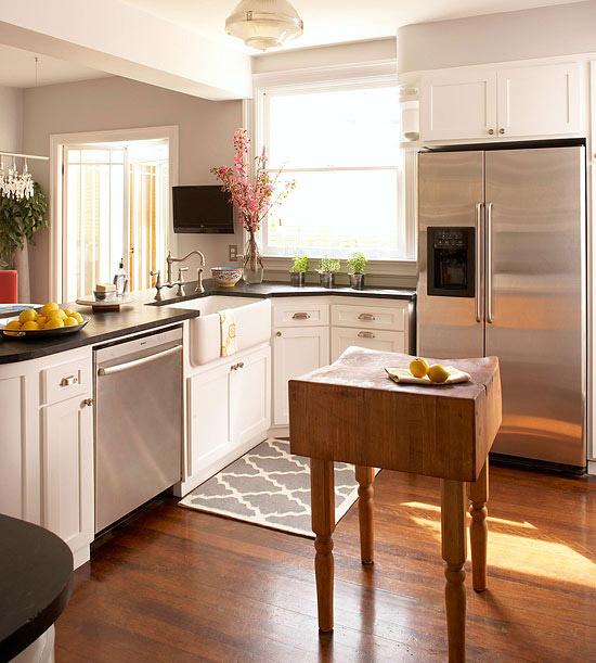 Small-Space Kitchen Island Ideas - Bhg.com   Better Homes & Gardens