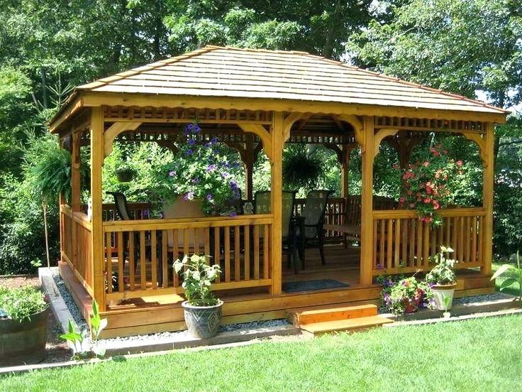 Best Flower Garden Gazebos Images On Gazebo Design Plans Pictures In