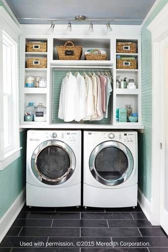 Laundry Room Decorating Ideas To Help Organize Space | Bathrooms