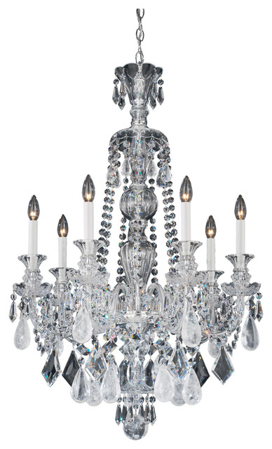 Hamilton Rock Crystal 7-Light Chandelier - Traditional - Chandeliers