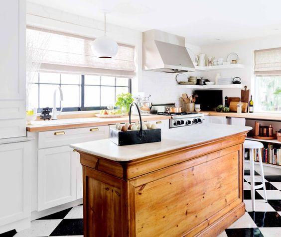 Vintage Farmhouse Kitchen Islands: Antique Bakery Counter for Sale
