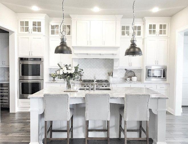 Gorgeous and luxury white kitchen design ideas (22) | House plans