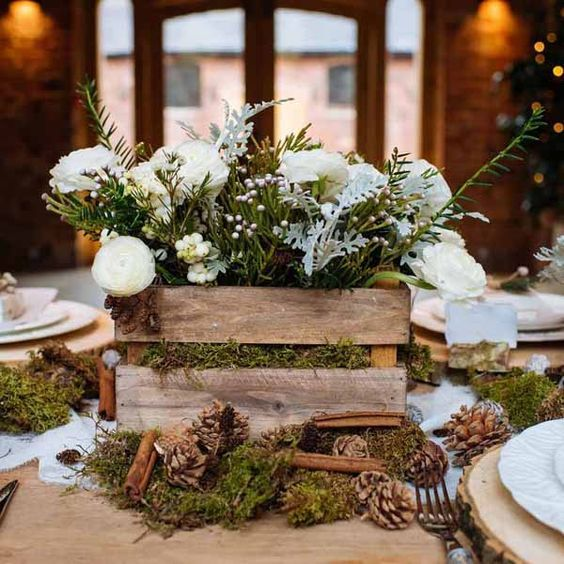 30 Winter Wedding Centerpiece Ideas u2013 Hi Miss Puff