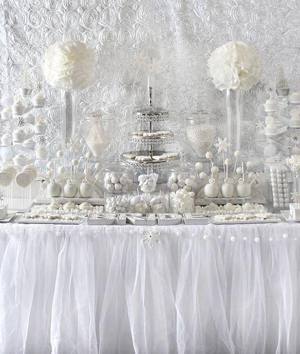 All White Bridal Shower Ideas | Custom Dessert/Candy Bar | White