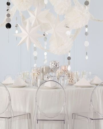 DIY Home Projects | Party ideas | All white party, Party, Winter