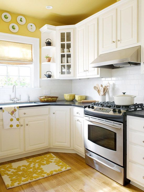 Yellow Accent Kitchens Ideas 5